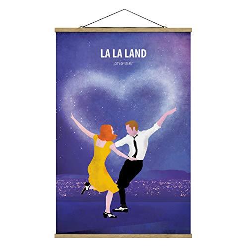 Bilderwelten Imagen de Tela - Film Poster La La Land - Alto 3:2 75cm x 50cm Roble