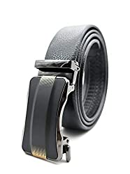 Satyam Kraft PU Leather(Pack of 1) Adjustable Buckle Belts Fashion Waist Strap BELTS For Casual and Formal - Belt For Men and Boys, color Design For Daily Use
