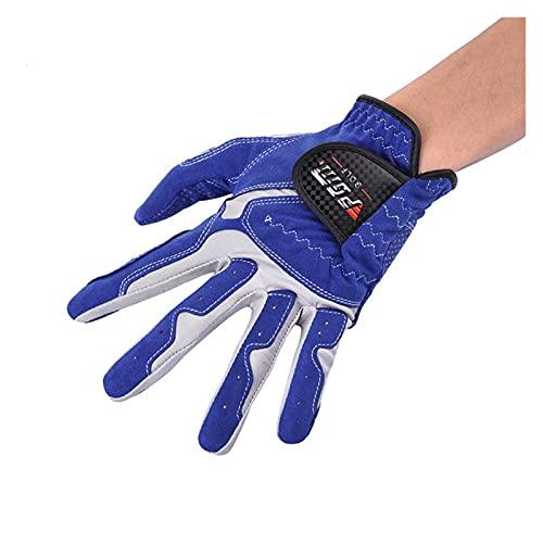 Golfhandske Pack 1 st mens golfhandske bär på vänster hand färg svart blå vit mikrofiberduk mjuk andningsbar callaway golf män (Color : Blue, Size : 25 Large)