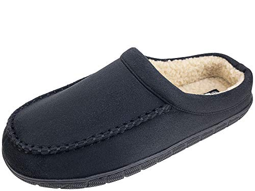 Dockers Men's Christopher Classic Casual Roll Collar Clog Slippers, Size 8 to 13 (Black Rugged, Numeric_9_Point_5)