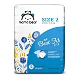Amazon Brand - Mama Bear Best Fit Diapers Size 2, 46 Count, Bears Print [Packaging May Vary]