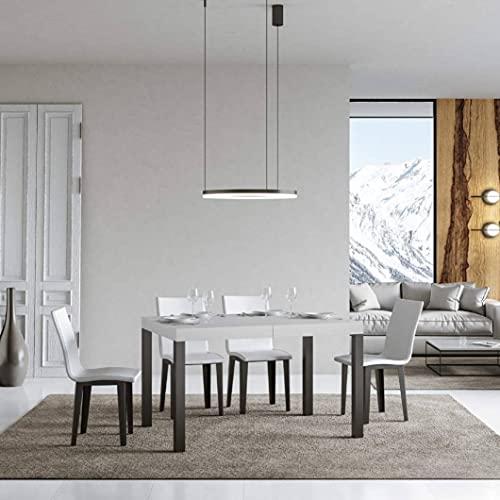 Itamoby, Mesa Everyday extensible blanca fresno 90 x 130 cm alargada 234