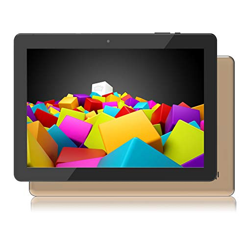 Android Tablets 10.1 inch WiFi Android 10.0 Tablet w/Secure Stand Cover Case, 2GB RAM, 32GB ROM, 1.5GHz, Dual Speakers, IPS HD Display, 5MP Rear Camera, Bluetooth 4.0, Metal Body, Gold