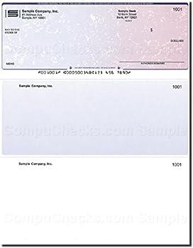 Computer Checks - 250 Printed Laser Computer Voucher Checks - Compatible for QuickBooks - Blue/Red Prismatic