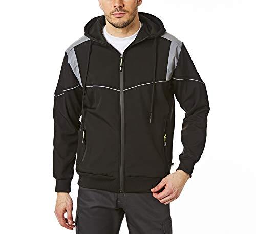 Lee Cooper LCJKT458 para hombre ropa de trabajo Softshell chaqueta con capucha, Negro, 3X-Large