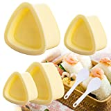 4 Pack Onigiri Mold Triangle, Rice Ball Mold Makers, Triangle Sushi Mold Set, Japanese Rice Ball Production Mold for Decorating The Daily Bento Box, for Home Kitchen DIY Nori Rice Bento