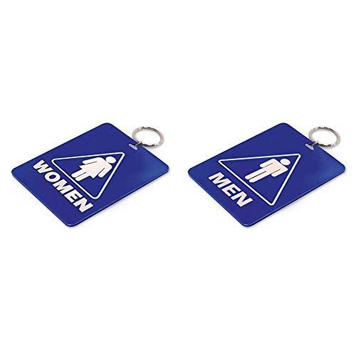Lucky Line - Women's Restroom Pass Key Tag, Plastic with Split Key Ring Keychain Identifier for Restaurant & Men's Restroom Pass Key Tag, Plastic with Split Key Ring Keychain Identifier for Restaurant