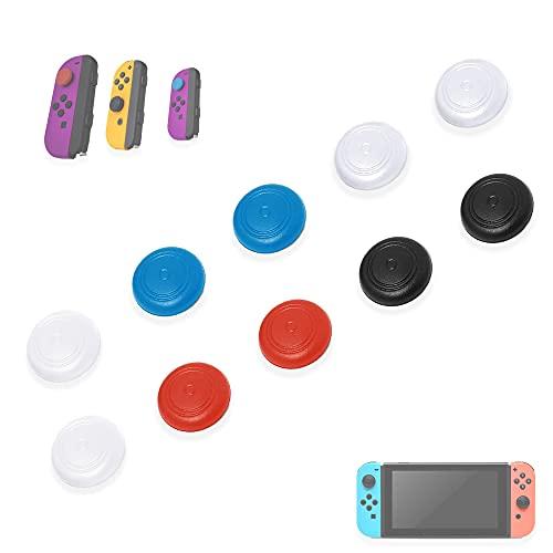 MatoSan 10 Bunte Joystick Kappen für Nintendo Switch & Lite   Thumb Grip Ersatz Silikon Analog Stick Schutzkappen Grips Caps Joy-Con Ersatz-Zubehör