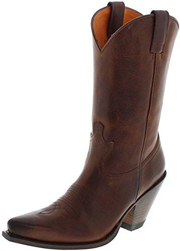 FB Fashion Boots Sendra Boots 15422Tang piel Botas para mujer marrón Western Botas