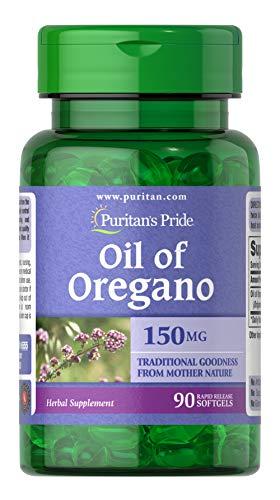 Extracto de aceite de orégano 150 mg 90 cápsulas blandas