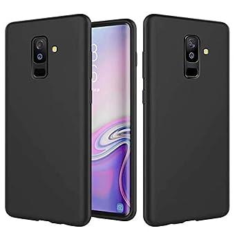 Huawei P Smart携帯電話ケースTtimao液体シリコン保護カバー耐衝撃性スクラッチ防止保護ケースマイクロファイバー布裏地柔らかいパッド付き(ブラック)
