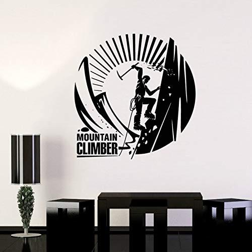 Montañismo Escalada en roca Desafío extremo Escalador valiente Inspirador Etiqueta de la pared Vinilo Calcomanía para automóvil Dormitorio de niño Sala de estar Oficina Club Estudio Decoración pa