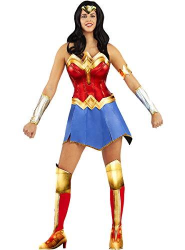 Funidelia | Disfraz de Wonder Woman Oficial para Mujer Talla L ▶ Mujer Maravilla, Superhéroes, DC Comics, Liga de la Justicia - Color: Multicolor - Licencia: 100% Oficial
