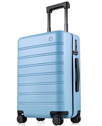 NINETYGO Gepäck mit Spinnrollen, 100% PC Hardside Leichter TSA-konformer Koffer mit Wäschesack, für Geschäftsreisen & Reisen, blau (Blau) - P2107031