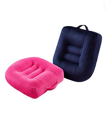 LAD-I Coussin Augmenté de Voiture Coussin Antidérapant épaissi Chaise de Fauteuil Respirable, Pink