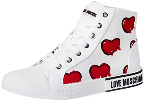 Love Moschino Ja15292g1bih1100, Basket Fille, Blanc, 35 EU