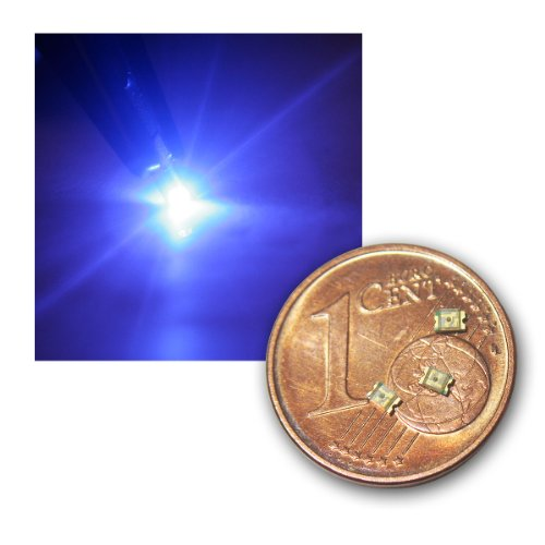 world-trading-net 20 SMD LED 0805 Blau klar, Typ WTN-0805-80b