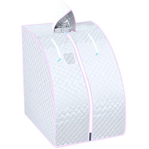 LICHONGUI Dampf Sauna Spa Personal Therapeutische Sauna für Gewichtsabnahme Detox Relaxation Single Use Home Sauna Spa Zelt mit Fernbedienung 1000 Watt (Color : White)