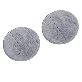 2Pcs Portable Round Computer Wrist Elbow Rest Pad AUHOKY Upgraded Thickened Cotton Keyboard Elbow Pad Premium Arm Support Mat for Office Table Desktop Working Gaming-Less Strain  9.8 Inch   Gray