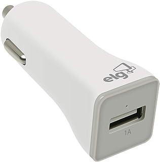 CARREGADOR VEICULAR UNIVERSAL - 1 PORTA USB 1A - BRANCO - CC1SBR
