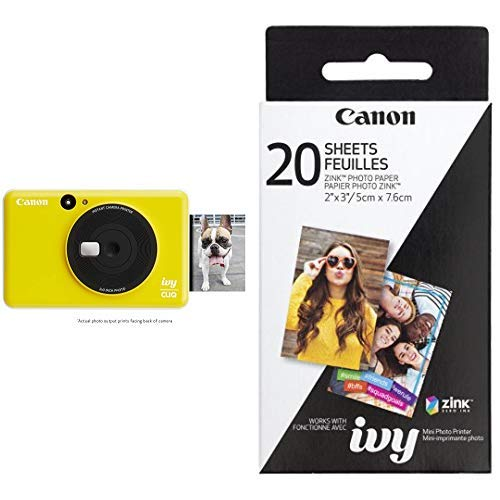 Image of the Canon IVY CLIQ Instant Camera Printer, Mini Photo Printer with 2