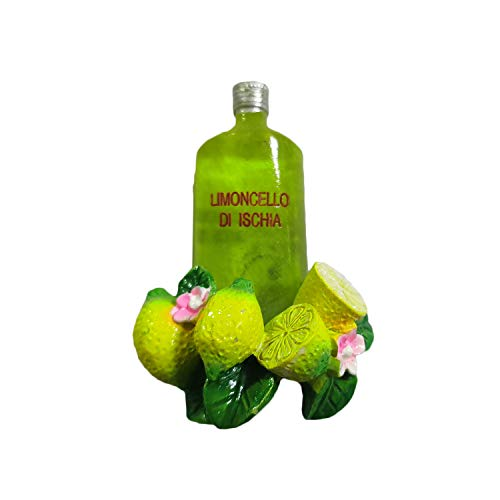 Ischia Neapel Italien 3D Limoncello Kühlschrankmagnet, Kunstharz, Reisesouvenir, handgefertigt, Dekoration für Zuhause und Küche, Neapel, Kühlschrankmagnet, Sammlung, Geschenk