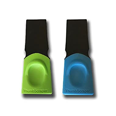 Fusionbrands 8118-SET2 Thumb Small Task Scraper Tool, Blue & Green