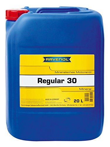 RAVENOL Regular 30 - Mineralisches Klassik-Motoröl für Oldtimer, unlegiert, API SA (20 Liter)