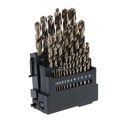 LKK-KK 25 Pieces Sharp M35 HSS Cobalt Drill Bit Set for Metal, Wood, Plastic 1~13mm