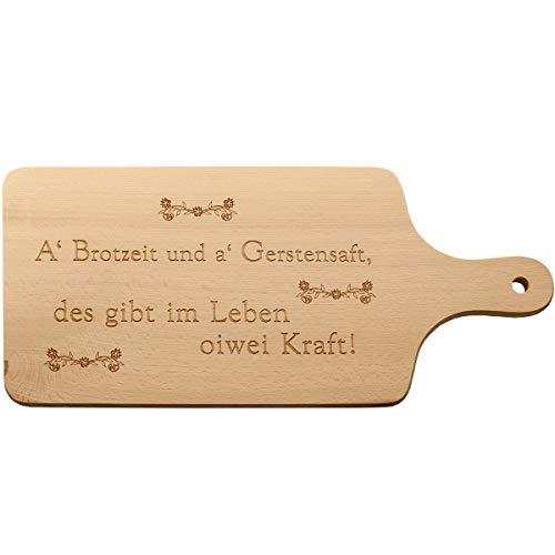 Spreukenband premium kwaliteit 100% emotioneel · broodplank met gravure · ontbijtplankje hout · houten plank met handvat · brood · houten plankje · snijplank hout · houten plank met gravure