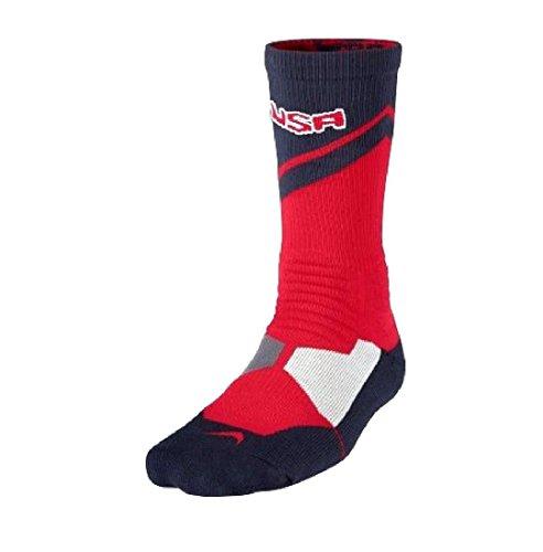 Nike Youth Hyper Elite World Tour Performance Socks - Red/White/Blue