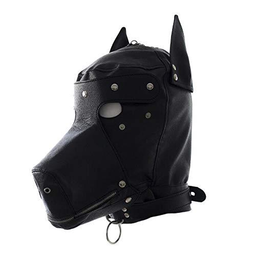 Máscara de perro de cuero de juguete de la campana del juego de terror máscara para Halloween