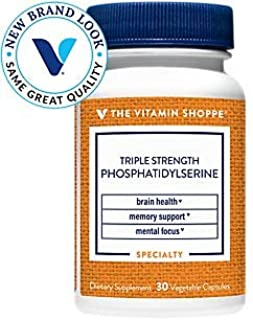 Triple Strength Phosphatidylserine with Clinically Studied Ingredient (Sharp PS™) Brain, Memory Focus Support, Once Daily ...
