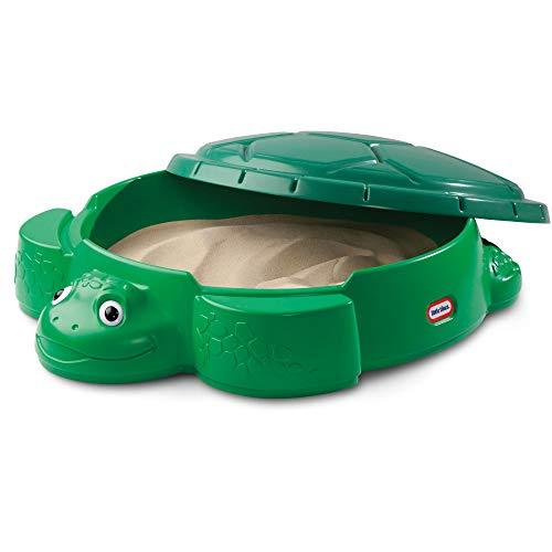 Little Tikes Bac à sable tortue- Activités en plein air. Jouet d'été sécurisé & portable, pataugeoire & boîte de rangement - Encourage les jeux créatifs. Jouet en plein air, 12 mois et +