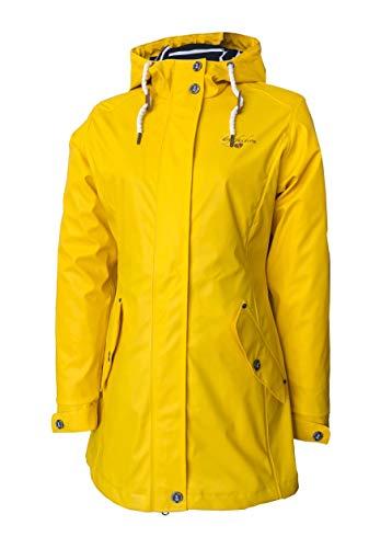 Dry Fashion Kiel - Chubasquero para mujer amarillo 48