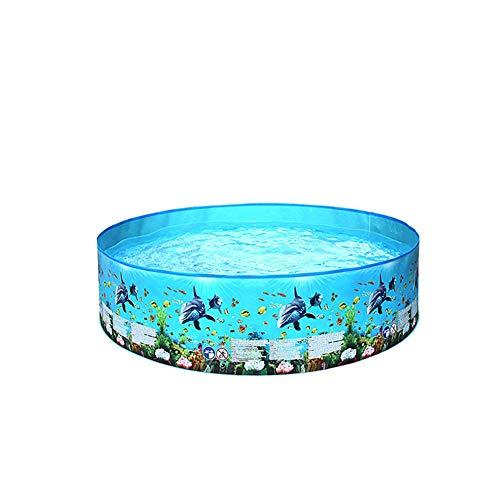 MDHANBK Piscina infantil con diseño de océano, piscina hinchable de seguridad para niños, de PVC