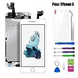 BuTure Écran pour iPhone 6 Remplacement de l'écran LCD avec Outils de Réparation Bouton Accueil Caméra Frontale Haut-Parleur Écran Assemblé iPhone 6 Blanc
