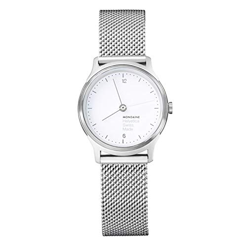 Mondaine Men's MH1.L1110.SM Helvetica No.1 Light Analog Quartz Silver-tone Stainless Steel Watch