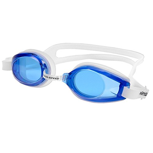 Aqua-Speed–Schwimmbrille AVANTI blanco-azul