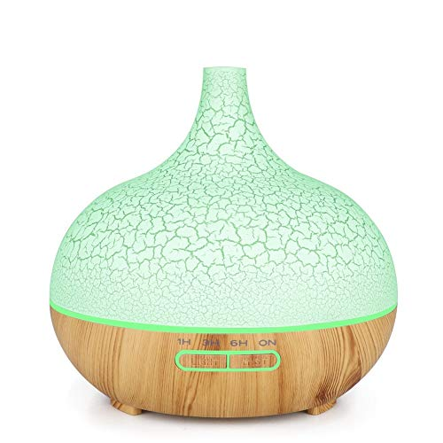 HAIK 400 ml de Aceite Esencial Difusor Difusor perfumado humidificador for el Dormitorio Oficina Yoga SPA con 7 Luces LED de Color Bebés de Vapor Caliente y Frío (Color : Beige)