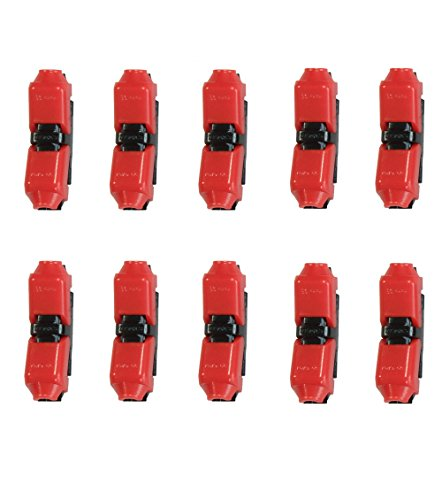 Wire Connectors - Low Voltage Electrical Connector Quick Splice 22-20 awg Extension Cable, no Soldering, without Stripping (Pack of 10)