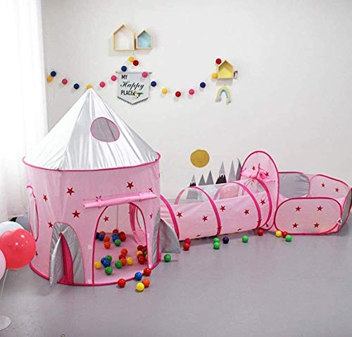 ZZXXB Oofay Kids Tent House Play Toys Tunnel Crawling Playhouse Used for Parent-Child Parent-Child Game Interaction Polyester Cloth Material Non-Toxic, Easy To Clean (Pink) Judith