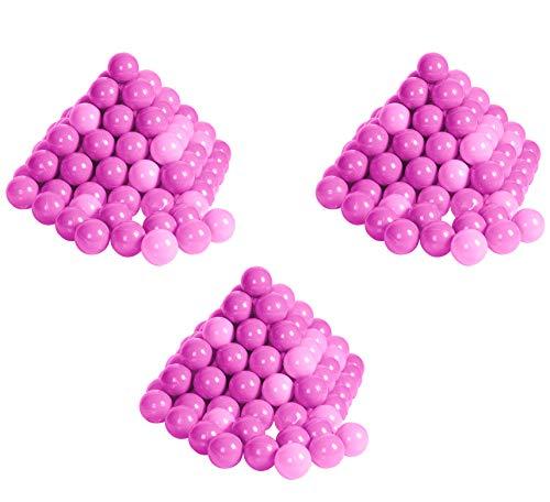 Knorrtoys 56792 - Bälleset - 300 Bunte Plastikbälle/ Bälle für Bällebad, ca. 6 cm Durchmesser, in Farbmischung pink / rosa, ohne gefährliche Weichmacher, TÜV-Rheinland Testbericht v. April 2016