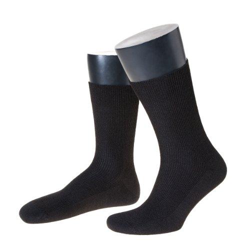 NORDPOL logofreie Herrensocke aus 100prozent Baumwolle, kurz, 3 Paar, schwarz, Made in Germany, Gr. 45-47
