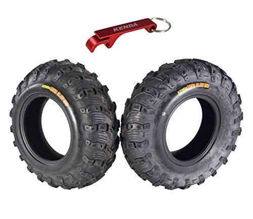 Kenda Bear Claw EVO ATV UTV All Terrain Mud Bearclaw Tires with Bottle Opener Keychain 2 Packs (25x8-12 Front 2 Pack)