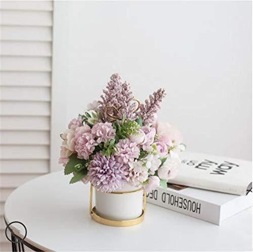 ShangduGefälschte Sträuße, Blätter und Blumen für DIY Hochzeit Sträuße von Bräute Dekorationen 23 * 20cm Lila