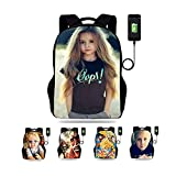 Customized picture computer backpack for elementary and middle school students with USB jack customized appearance children's schoolbag