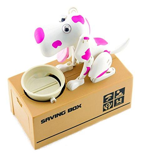 My Dog Piggy Bank - Robotic Coin Munching Toy Money Box - Pink