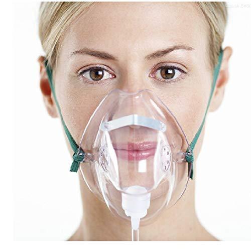 Yuwell Sauerstoffmaske für Erwachsene mit 2 m Schlauch, 3 Stück