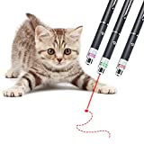 3PCSCatHunting Toy,Smart InteractivePen for Your Kitty,Handheld Pet ToyforIndoorCats/Dogs,ColorinRed/Green/Purple
